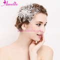 Handmade Rhinestone with Tulle Bridal Hair Accessories Wedding Decoration Hair Clip