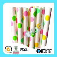 Colored Dot Mother's day Paper Straws