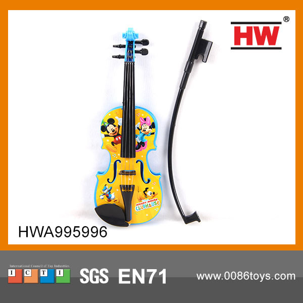 Hot Sale plastic musical mini violin toy kids toy plastic miniature violin