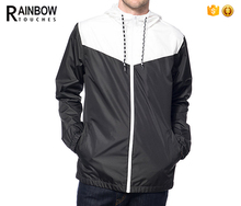 Chinese Clothing Manufacturers Mens Lightweight White And Black Jacket