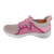 Breathable Lady Woven Fabric Walking Shoe Running Shoes