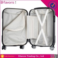 Brand new rotatable trolley wheel luggage travel suitcase on wheels eminent lady's trolley luggage multiple colors