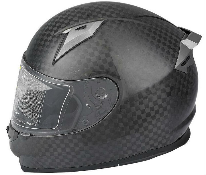 Full face helmet, full carbon, DOT/ECE/Snell Test, 12K carbon woven