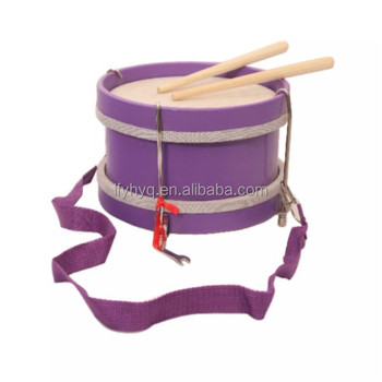Fashion gift for baby/children  toy snare drum wooden marching drum name percussion instruments
