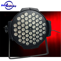 DMX 7CH par64 led disco lighting/54*3w rgbw par light