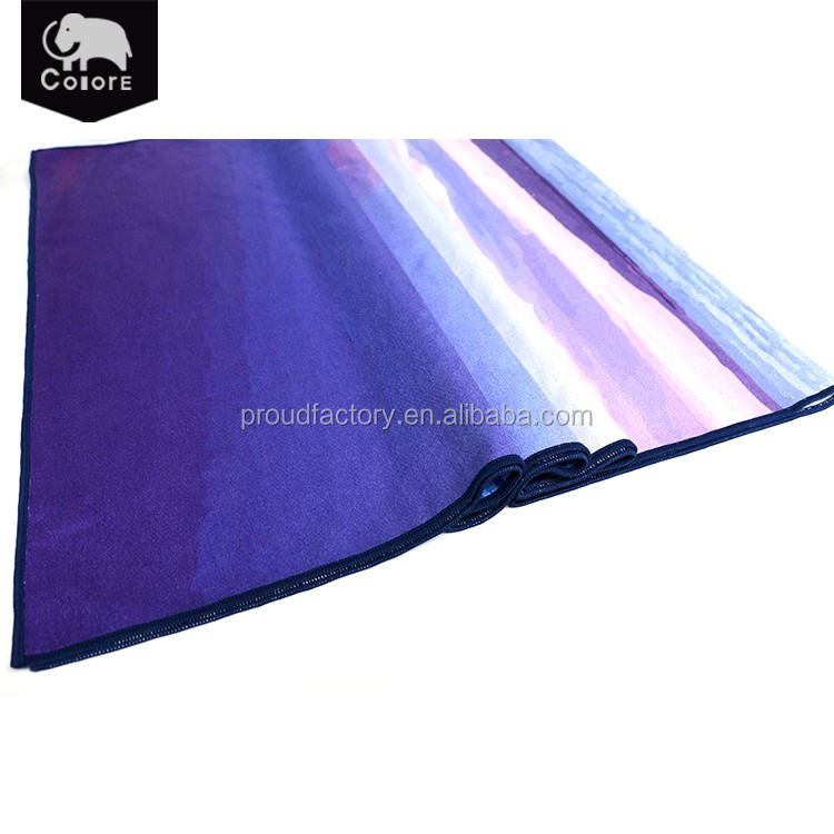 2016 Popular product lightweight custom yoga towels for sale