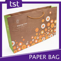 Fashionable Design Foldable Kraft Paper Bag