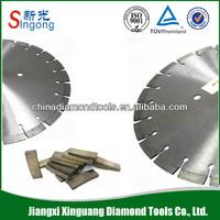 High quality diamond segment bimetal bandsaw blades for stone cutting