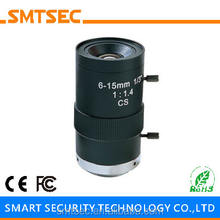"SL-0615M 6-15mm 1/3"" F1.4 CS Mount Varifocal Manual Iris lens for HD CCTV Security IP Camera"
