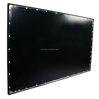 3D Silver Fixed Frame Screen with Rear Projection / 4:3 Factory Price Rear Fabric Frame Screen / 3D PVC Material Fixed Frame Scr