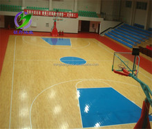 2017 PVC Sports Flooring For Indoor Basketball Court Use