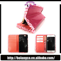 case for apple iphone6 wallet case with many card slots for note 3 leather phone case