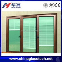 CE certificate aluminum casement window 3 panel with blinds