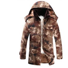 Hot sale mens real sheep fur lining outdoor hooded warm jacket