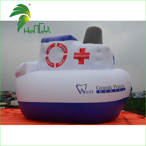 Large Durable PVC Inflatable Ship Replica For Sale / Advertising Display Inflatable Tug Boat Model