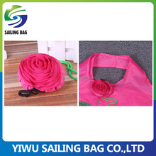Polyester 190 foldable rose shopping bag reusable compra