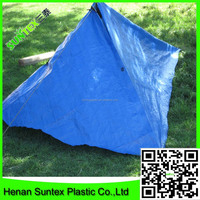 China manufacture custom top quality low cost 300g blue PE tarpaulin,truck tarps fabric,camping tent with grommet