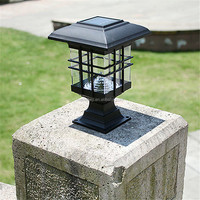 Waterproof LED Solar Panel Lamps Pillar