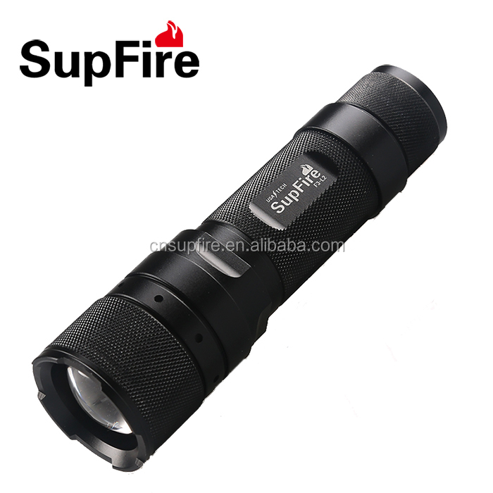 Hot sales good quality aluminium SupFire geepas rechargeable led flashlight with ce