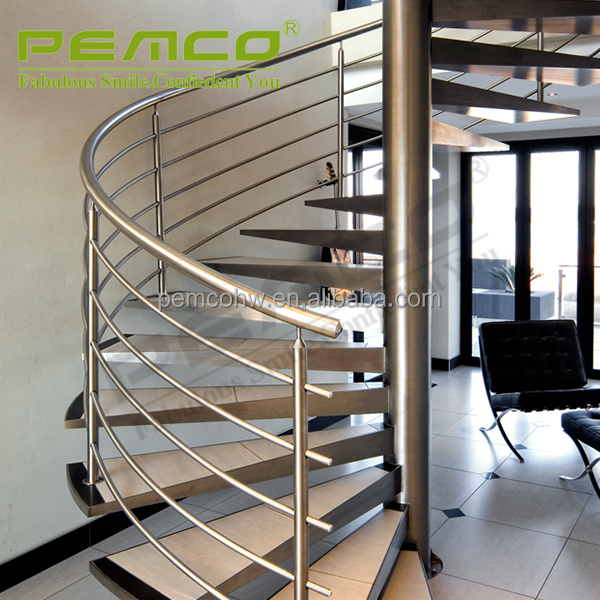 Excellent Climate Resistance Polished Finish 304 316 Stainless Steel Luxury Stair Handrail