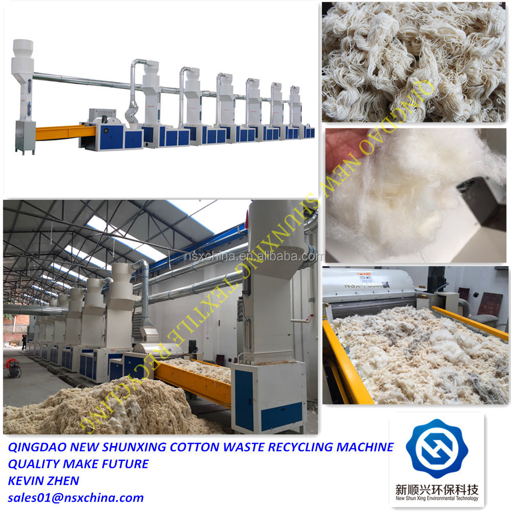 factory price old clothes/hard waste/linen/cotton waste recycling machine for spinning
