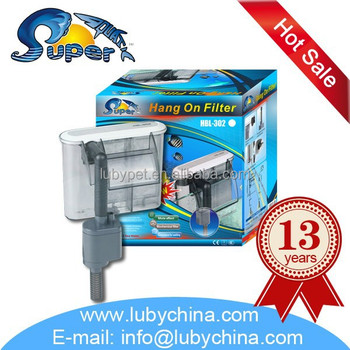 sunsun super aquatic Super Slim Shape Hang On aquarium filter for fish tank, with filter carton plate HBL Series