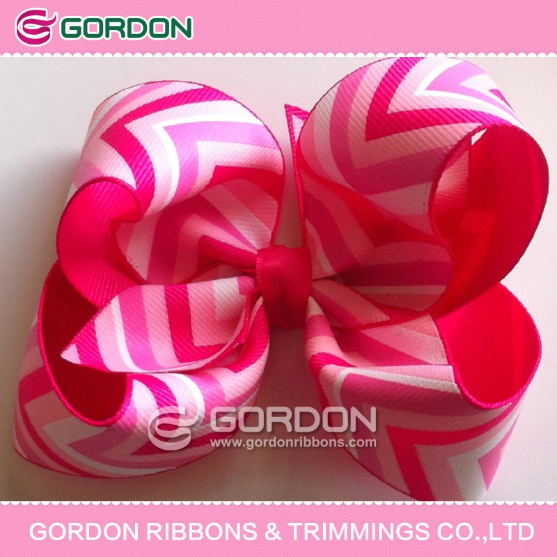 50mm grosgrain ribbon made into big hair bow with barrete