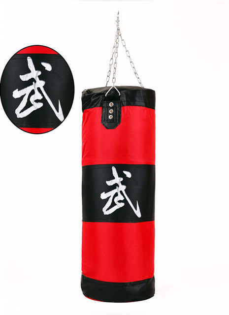 ZOOBOO 70-100cm Training Fitness MMA Boxing Bag Hook Hanging saco de boxe Kick Fight Bag Sand Punch Punching Bag Sandbag