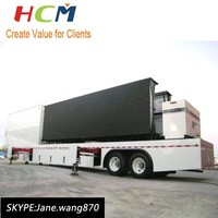 Full color p10 outdoor advertising bus led display screen