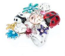 Stock rings Fashion Finger rings Alloy rhinestones rings R860