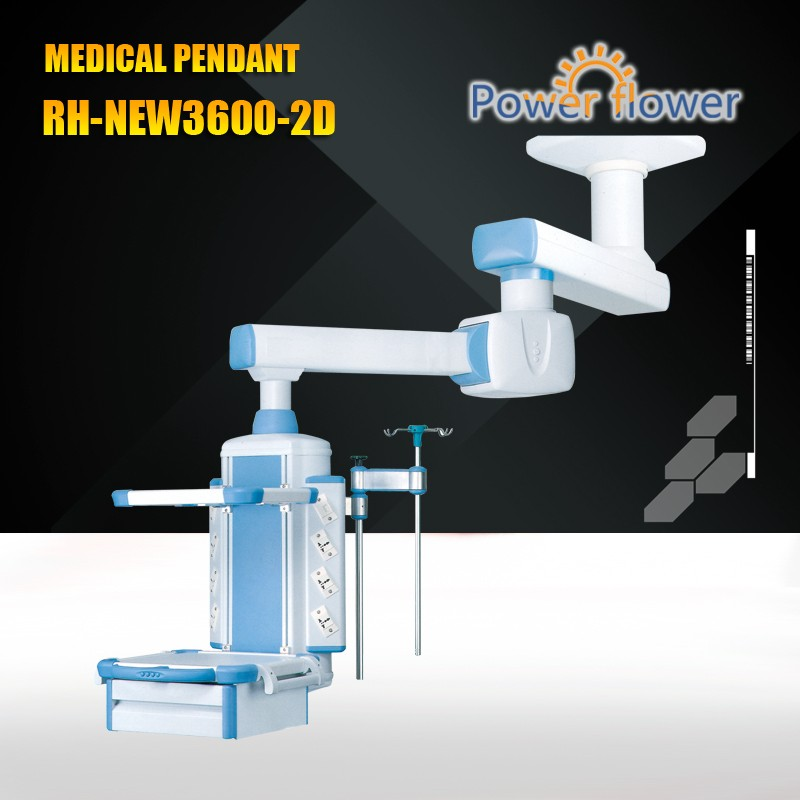 Meidcal Pendant from CE,FDA,ISO 13485 certificates approved factory:RH-NEW3600-2D double-arm electric medical pendant