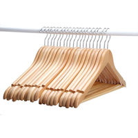 [Free Shipping ] Solid Wooden Suit Hangers, Coat Hangers, Natural Finished