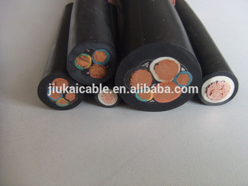 H07RN-F Rubber Round Cable PVC/ Rubber 4X1.5mm2 Submersible Pump cable