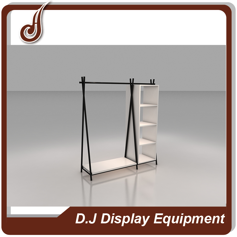Retail store customized size MDF PD and iron material carpet rolling display rack