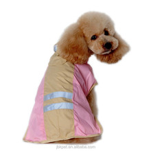 JBK Raincoat Jacket for Pets Cat Dog Soft PU Warm Hood Drawstring Pet Clothing Wholesale Retail