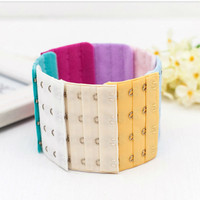 Best quality colorful comfortable nylon bra clasp back strap extender for bra accessories