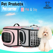 LOVABLEDOG New hot pet products Foldable fabric Dog bags / EVA durable lightweight fold carrier dog pet transport bag