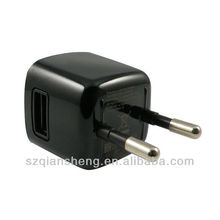 Portable black USB Power Adapter Wall Charger Travel Charger with EU Plug For Blackberry