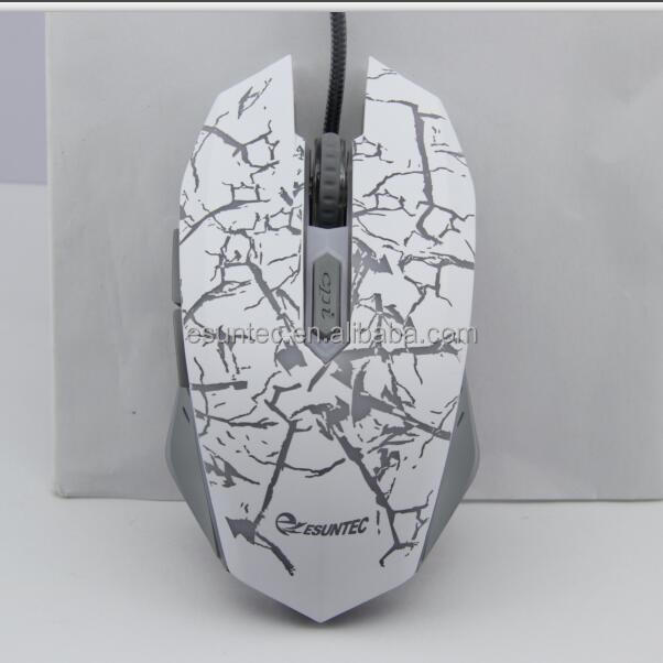 USB Optical Gaming Mouse Sparkle PC Mouse LED White GM-032A