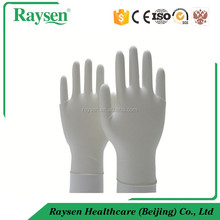 China Medical disposable latex examination gloves, long sleeve rubber gloves