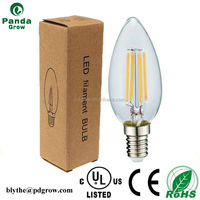 LED filament bulb E14 medium base UL Certification C35 candle 2W 4W 6W for table and floor lamps