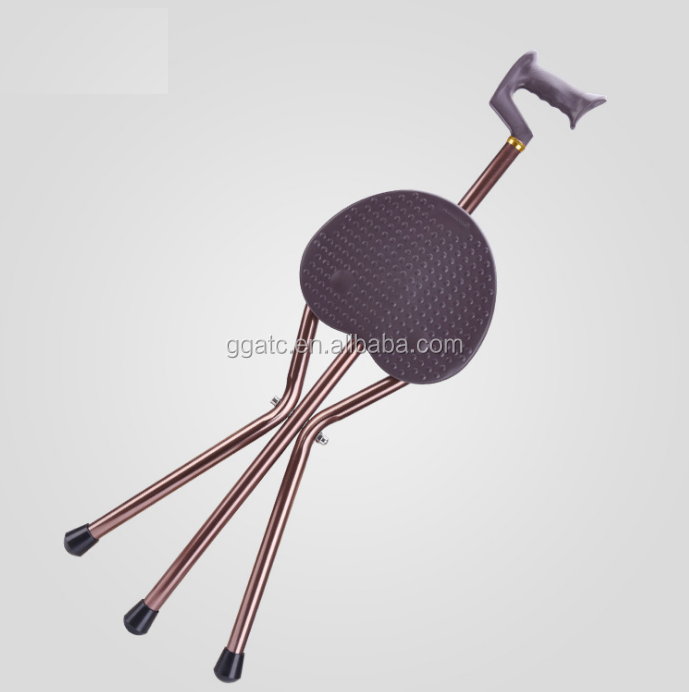 Cane seat chair with folding stool cane and Umbrella handle grip