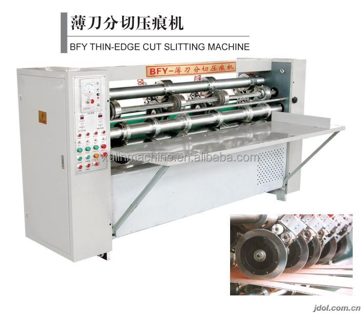 Hebei xulin Thin blade slitter scorer machine for corrugated line /Used corrugated carton box making machine for corrugated