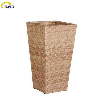 Competitive price poly wicker  outdoor wicker planters garden wicker planter