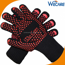 Grill Gloves Silicone Heat Resistant Aramid Gloves For BBQ Baking Heat Insulated Hand Protection