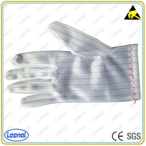 LN-8001 Protective Polyester material anti static fabric glove