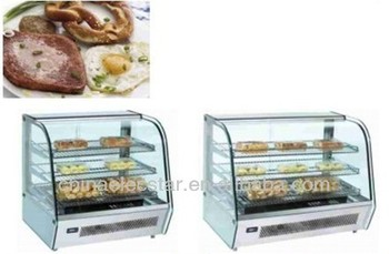 Hot display counter,warmer,stainless steel finish,pie,pizza showcase