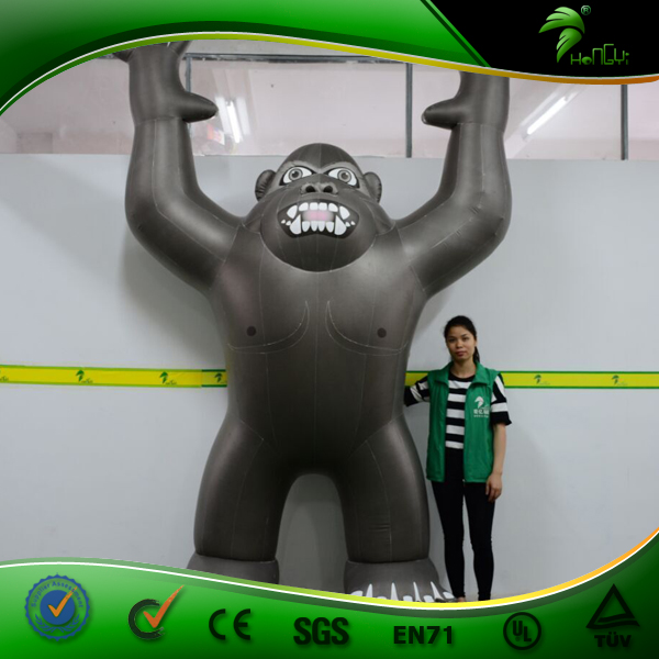 Giant Inflatable Standing Orangutan Trade Show Inflatable Black Monkey Advertising Cartoon Ape Price