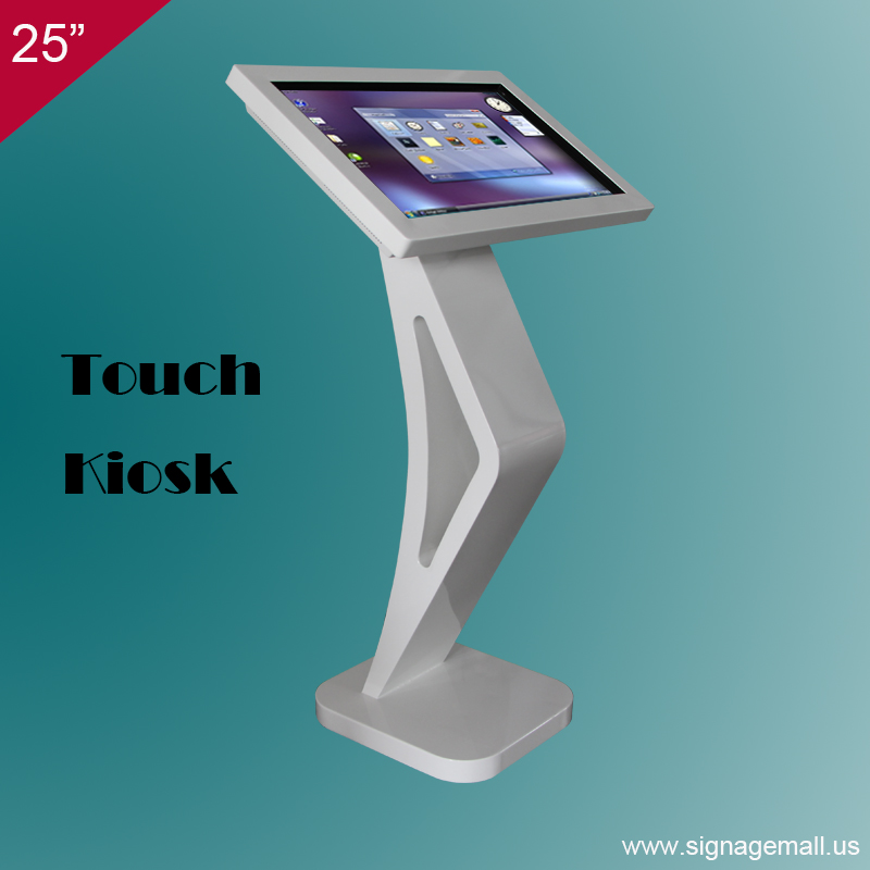 factory price 25 inch kiosk stand pc multi touch screen