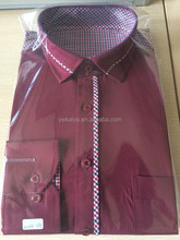 2015 fashion designer man's shirt check patch long sleeve new casual shirt